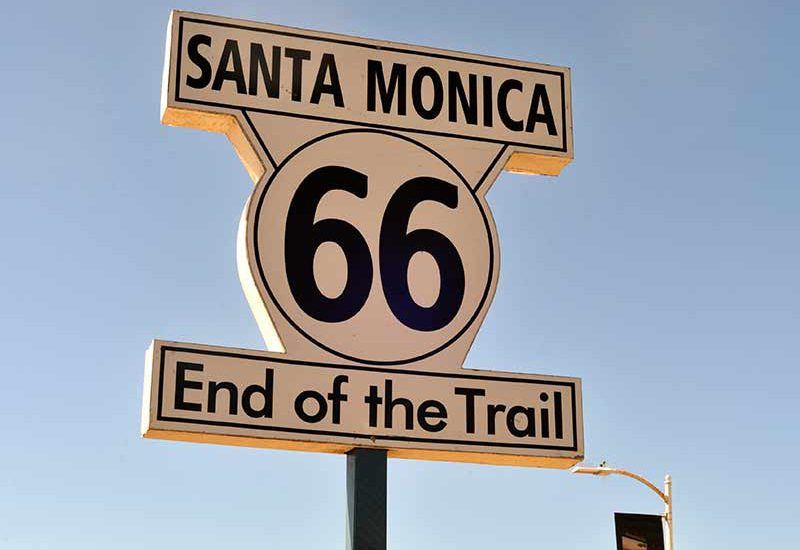 Sign marking the end of the iconic Route 66