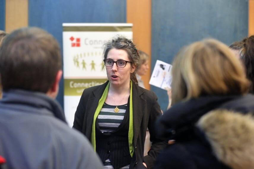 A delegate at an event hosted by Edinburgh based charity Foursquare EFI